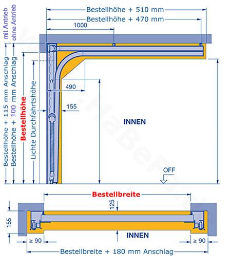 Relativ Sektionaltor LPU 42, Woodgrain M-Sicke, Color, bis B: 3000 x H: 2500mm HO08