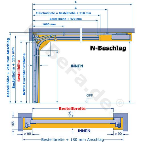 sektionaltor lpu 42 m sicke verschiedene holzdekore oder titan metallic ch703 bis b 6000 x h. Black Bedroom Furniture Sets. Home Design Ideas