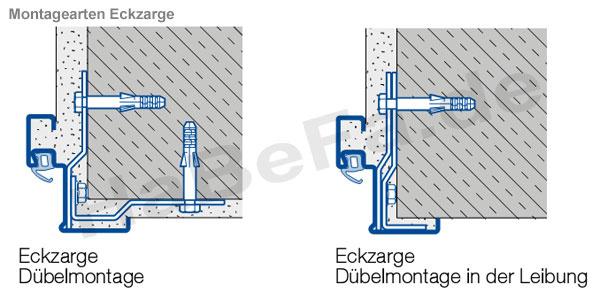 Unterschied eckzarge umfassungszarge  Brandschutztür T30-1 H3 OD Stahltür, Breite 875 mm, Höhe wählbar