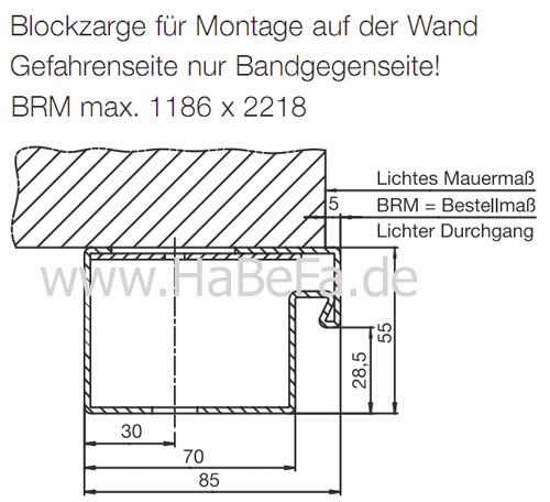 habefa hinweise blockzarge f r sicherheitst r ksi 40. Black Bedroom Furniture Sets. Home Design Ideas