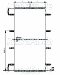t30 1 h8 5 brandschutzt r 875 mm x 2000 mm incl. Black Bedroom Furniture Sets. Home Design Ideas