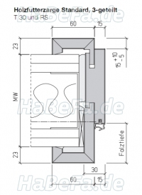 t30 1 holz brandschutzt r 750 x 1875 mm sch rghuber typ 3 0. Black Bedroom Furniture Sets. Home Design Ideas