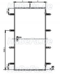 h8 5 t30 1 rs rauchschutzt r feuerschutzt r einfl gelig sonderma e. Black Bedroom Furniture Sets. Home Design Ideas