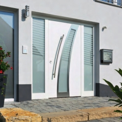 Haustür weiß mit seitenteil  ThermoSafe Haustür Motiv 40 von Hörmann