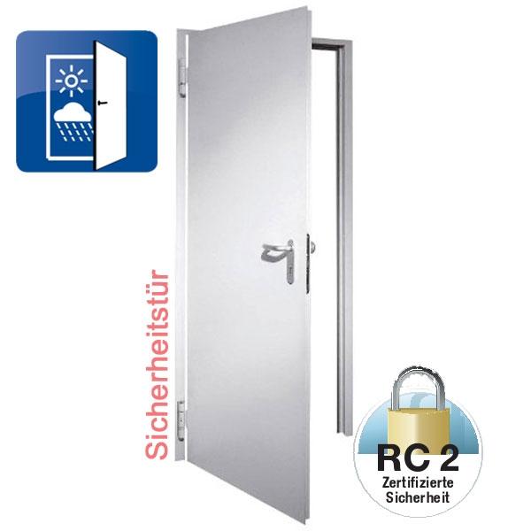 Außen Sicherheitstür D65 1 OD RC2, Breite Und Höhe Wählbar
