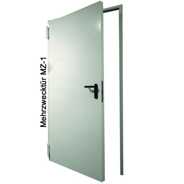 Nebeneingangstür mit zarge  Mehrzwecktür MZ-1 Stahltür, B: 1250 mm, Höhe wählbar