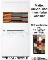 Holzhaustür  SecuriDoorBasic Holzhaustür Typ 104 Nicole