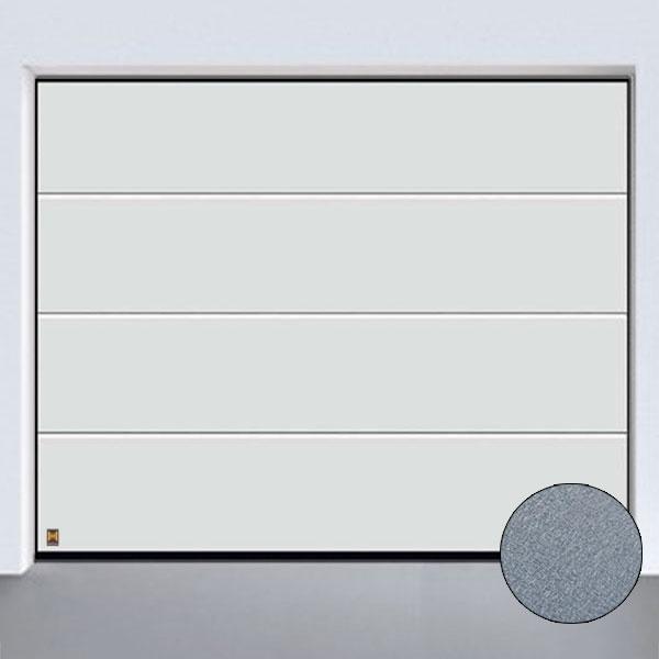 Garagentor hörmann oberfläche  Sektionaltor LPU 42, Sandgrain L-Sicke, Weiß, bis B: 3000 x H: 2500mm