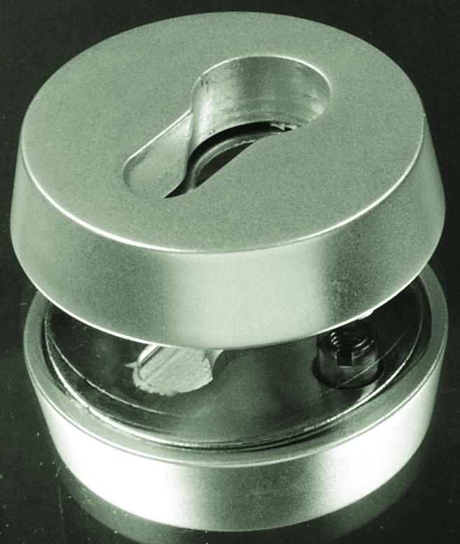 abus aluminium zylinder schutzrosette f r holzt ren rh 414 sb. Black Bedroom Furniture Sets. Home Design Ideas