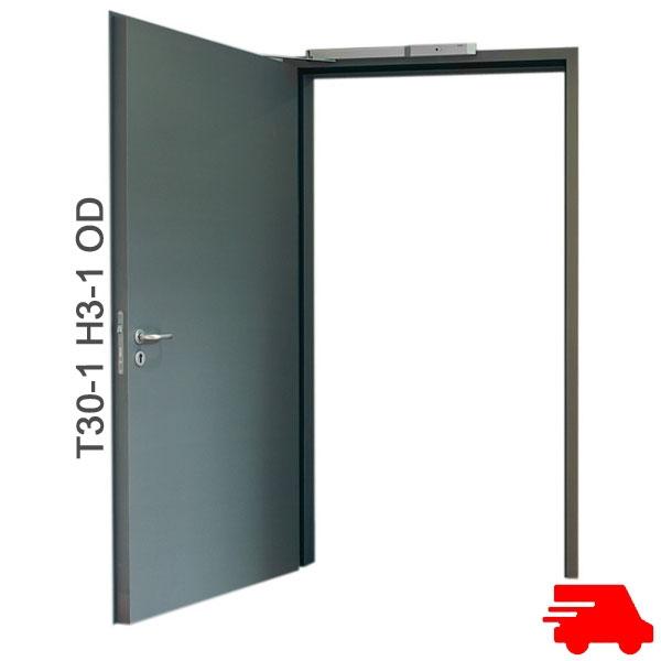 brandschutzt r t30 1 h3 od stahlt r breite 1000 mm h he w hlbar. Black Bedroom Furniture Sets. Home Design Ideas