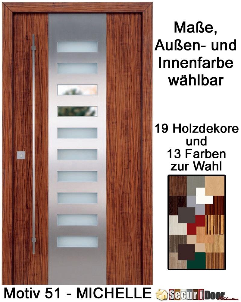 securidoor typ 51 michelle holzhaust r mit spezialoberfl che breite bis 1200 mm und h he bis. Black Bedroom Furniture Sets. Home Design Ideas