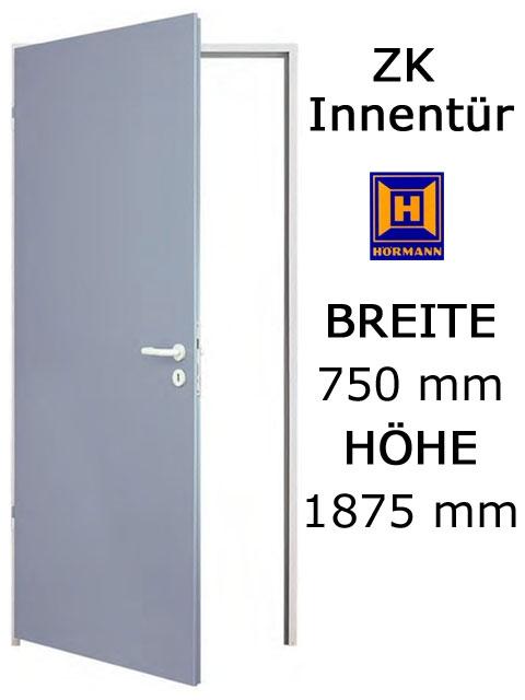 Einbaumaße türen  ZK Tür von Hörmann 750 mm x 1875 mm mit Türblatt, Zarge und Beschlag