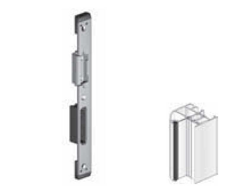schlie blech f r hakenriegelschloss hauptschloss aluminiumzarge 691314. Black Bedroom Furniture Sets. Home Design Ideas