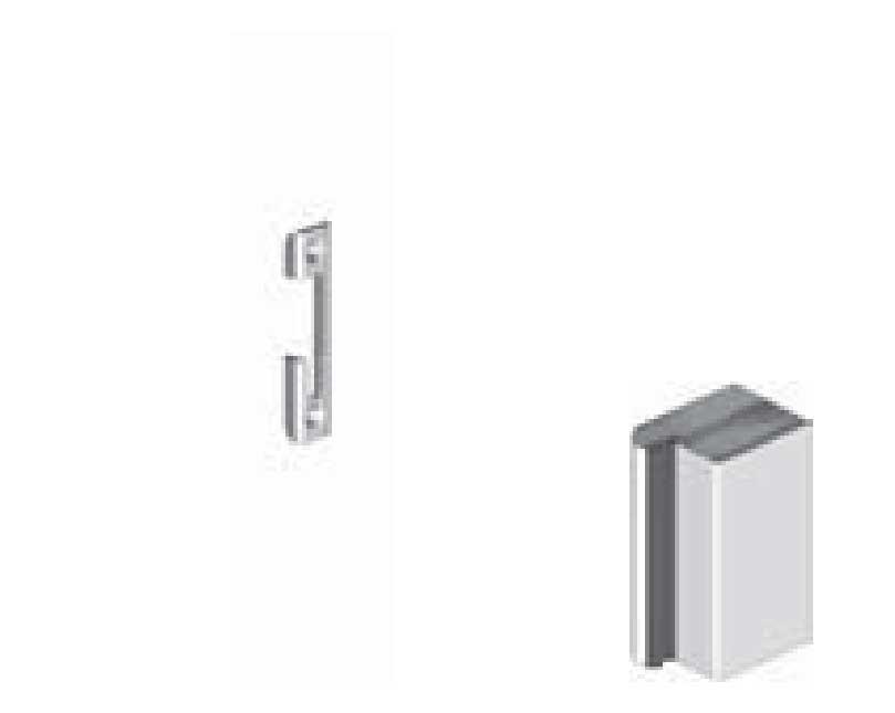 schlie blech f r pilzzapfenschloss pilzzapfenriegel holzzarge 697956. Black Bedroom Furniture Sets. Home Design Ideas