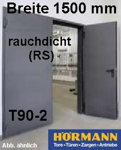 t90 2 rs h16 rauchschutzt r feuerschutzt r b 1500 mm h he w hlbar. Black Bedroom Furniture Sets. Home Design Ideas