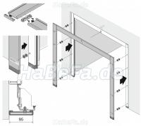 blendrahmen 95 glatt color ral nach wahl oder h rmann ch 703. Black Bedroom Furniture Sets. Home Design Ideas
